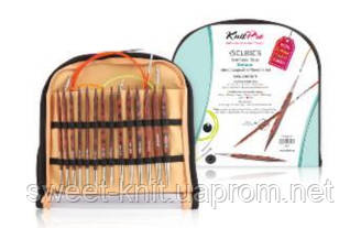 Набор деревянных съемных спиц Deluxe Cubics Symfonie-Rose KnitPro