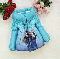 Демисезонная куртка Frozen для девочки. 110, 120 см