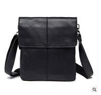 Черная кожаная сумка для мужчин