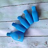 Прищепки для снятия гель-лака для пальцев ног 5 шт., голубые, фото 2