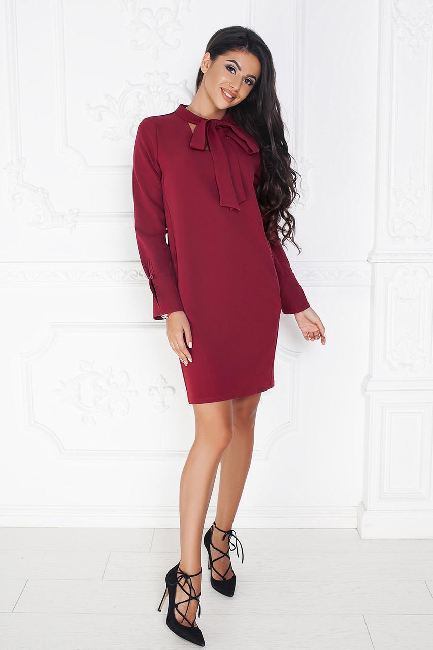Платье Филиси в бордовом цвете