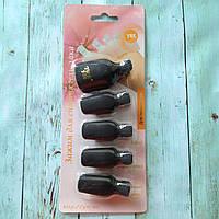 Прищепки для снятия гель-лака для пальцев ног 5 шт., черные