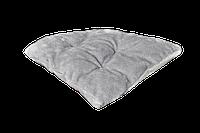 Подушка-лежак (синтепон) для кошек и собак Мур-Мяу треугольная 40 х 40 см Серая