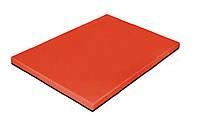 Доска разделочная пластиковая 40х30х2 см. прямоугольная, красная Durplastics