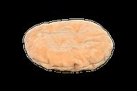Подушка-лежак (синтепон) для кошек и собак Мур-Мяу круглая 40 см Бежевая