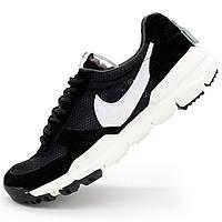 Мужские кроссовки для бега Nike Mars Yard 2.0 черно-белые. Топ 2018! р.(41, 42, 42.5, 43, 44)
