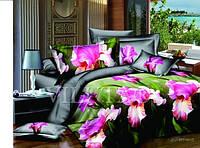 Семейное постельное белье - Красивые цветы  - Сатин Люкс коллекция 2014