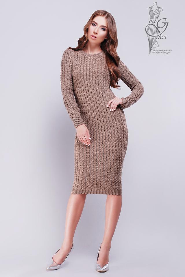 Фото Женского облегающего платья приталенного вязаного Катя-7
