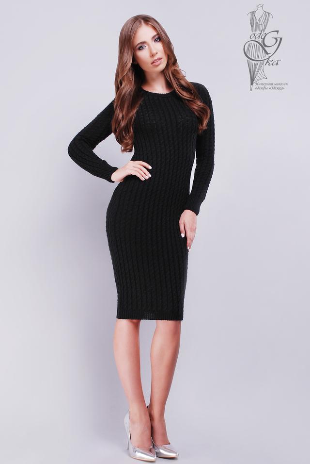 Фото Женского облегающего платья приталенного вязаного Катя-10