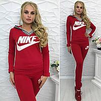Женский спортивный костюм с Капюшоном Найк красный