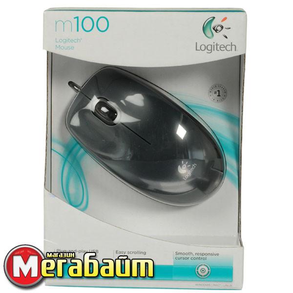 Мышь Logitech M100 Dark USB