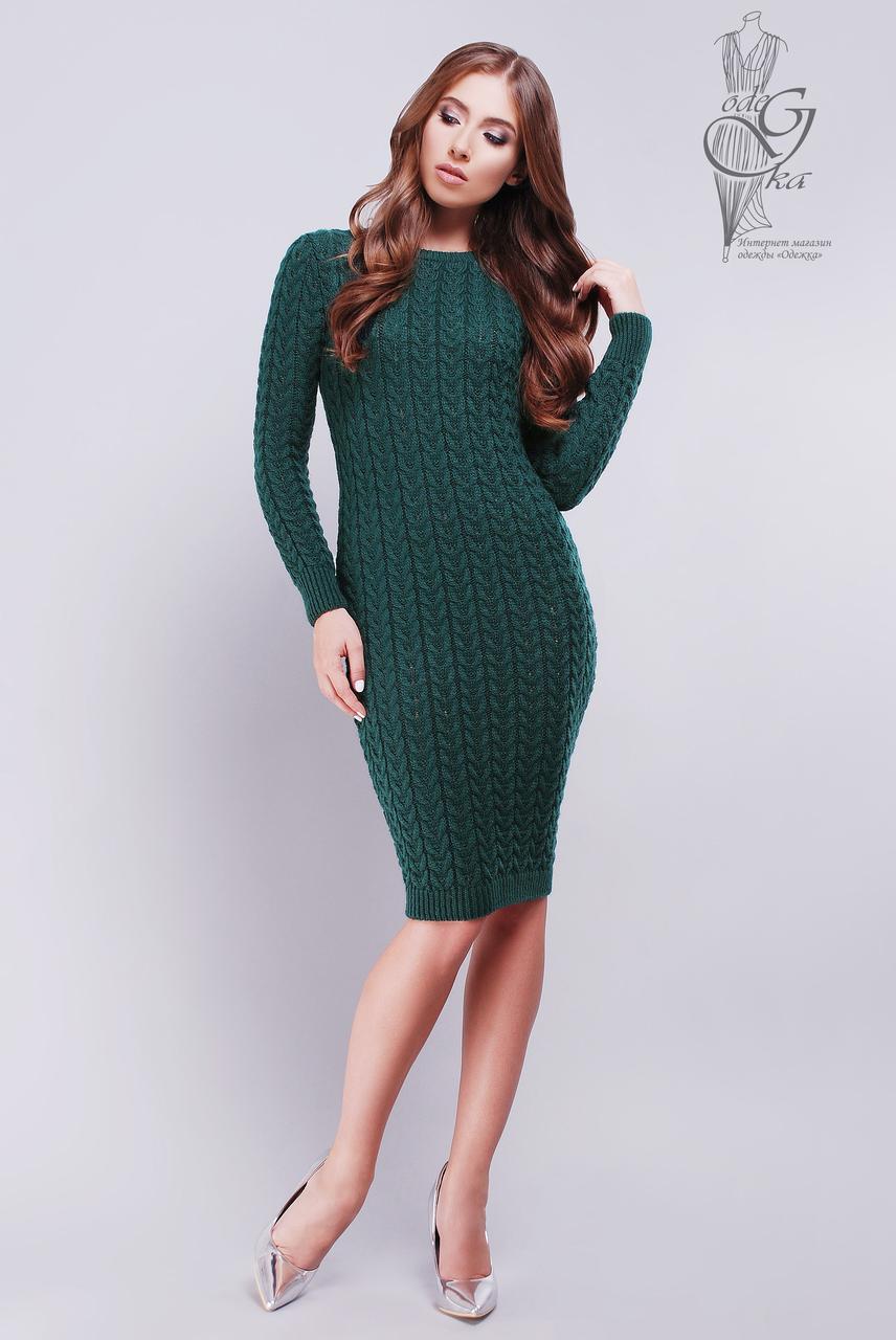 Женское облегающее платье приталенное вязаное Катя-1