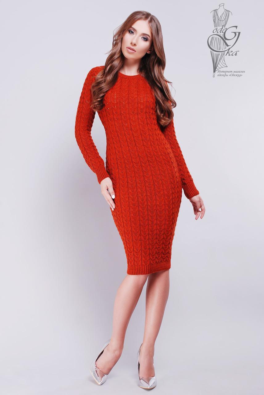 Женское облегающее платье приталенное вязаное Катя-4