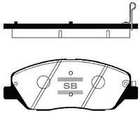 Колодки тормозные передние HYUNDAI Santa-Fe 2.7 V6 CRDI 05-/Sportage  08-10 2.2 CRDI SP1194