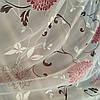 Тюль шифон хризантема бордо