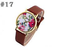 Женские часы с коричневым ремешком Geneva (17)