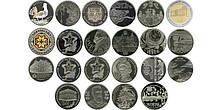 УКРАИНА ПОЛНЫЙ НАБОР МОНЕТ НБУ 2013 ГОДА 22 монеты