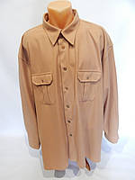 Мужская теплая рубашка  дл.рукав Fashion and style 003Pт р.56