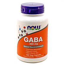 Спецдобавка Now Foods GABA 500 мг 100 капсул