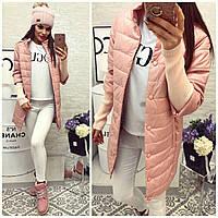 Куртка женская  модель 205/2, розовая пудра
