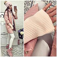 Куртка женская  модель 205/2, розовая пудра 44