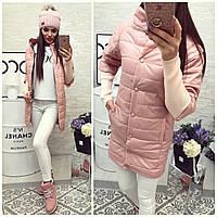 Куртка женская  модель 205/2, розовая пудра 48