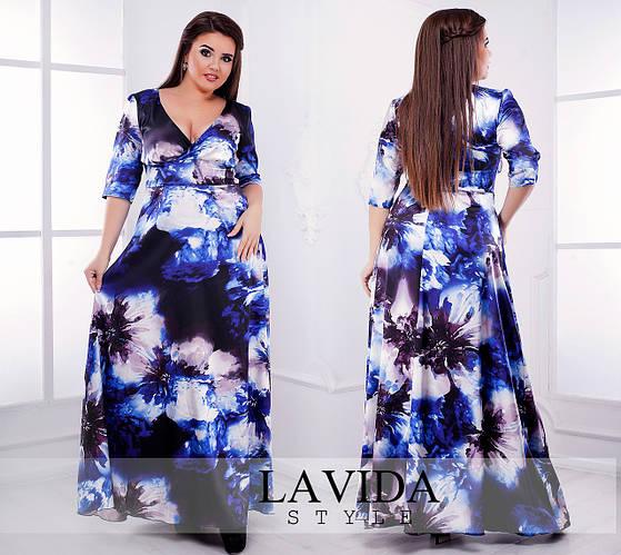 Женское платье в пол (50-60) 8103