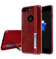 Кожаная накладка Nillkin Phenom Series с подставкой для Apple iPhone 7 plus / 8 plus Red