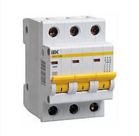 Автоматичний вимикач ІЕК ВА47-29М 3p 01А 4,5кА х-ка С