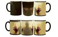 Чашка хамелеон привидение зомби хеллоуин ходячие мертвецы