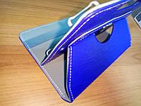 """Чехол универсальный для планшетов 10"""" поворотный 360 кожзам синий"""