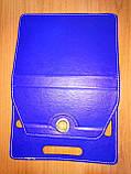 Чехол универсальный 2E для планшетов 10.1 поворотный 360 кожзам синий, фото 8