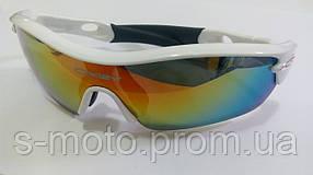 Очки спортивные O`KEY белые хамелеон (O-1550)