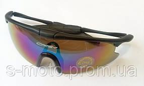 Очки спортивные O`KEY черные хамелеон (O-1545)