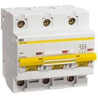 Автоматичний вимикач ІЕК ВА47-100 3p 100А 10кА х-ка D