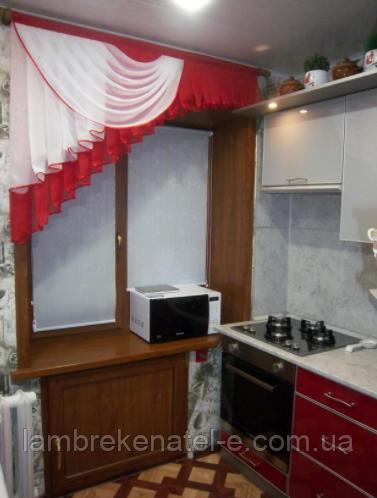 Ламбрекенчик на красную кухню