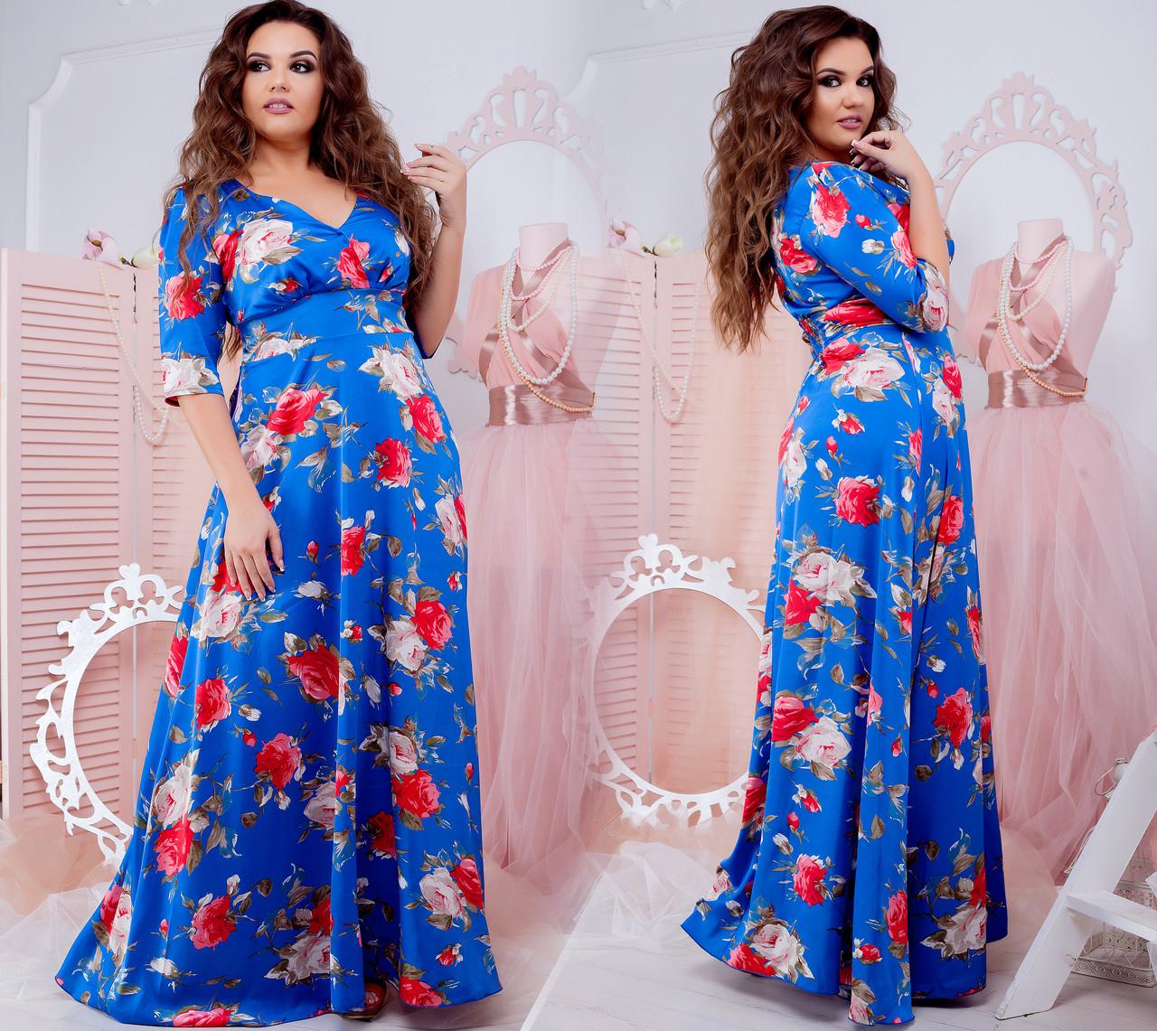 Женское платье в пол (50-60) 8174
