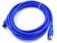 Удлинитель USB 2.0 a.b  3m PRINTER синий для принтера