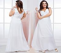 Женское шифоновое платье в пол (50-60) 8143