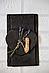 Костеры для подачи 4 шт. 12х10 см; сердце, натур., сланец, фото 3