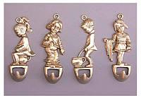 Набор вешалок настенных из 4 штук Stilars Детки 10 см 333-068