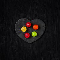 Сердца из камня, сланца 12х10 см, набор 4 шт.