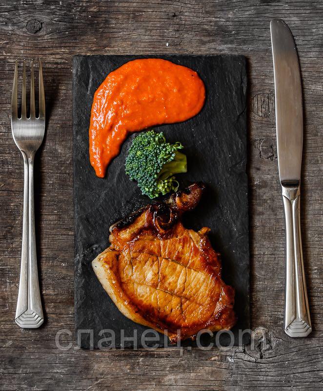 Блюдо для подачи 25х16 см; прямоугольное, натур., сланец