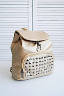 Гламурный рюкзак женский городской  цвет золото