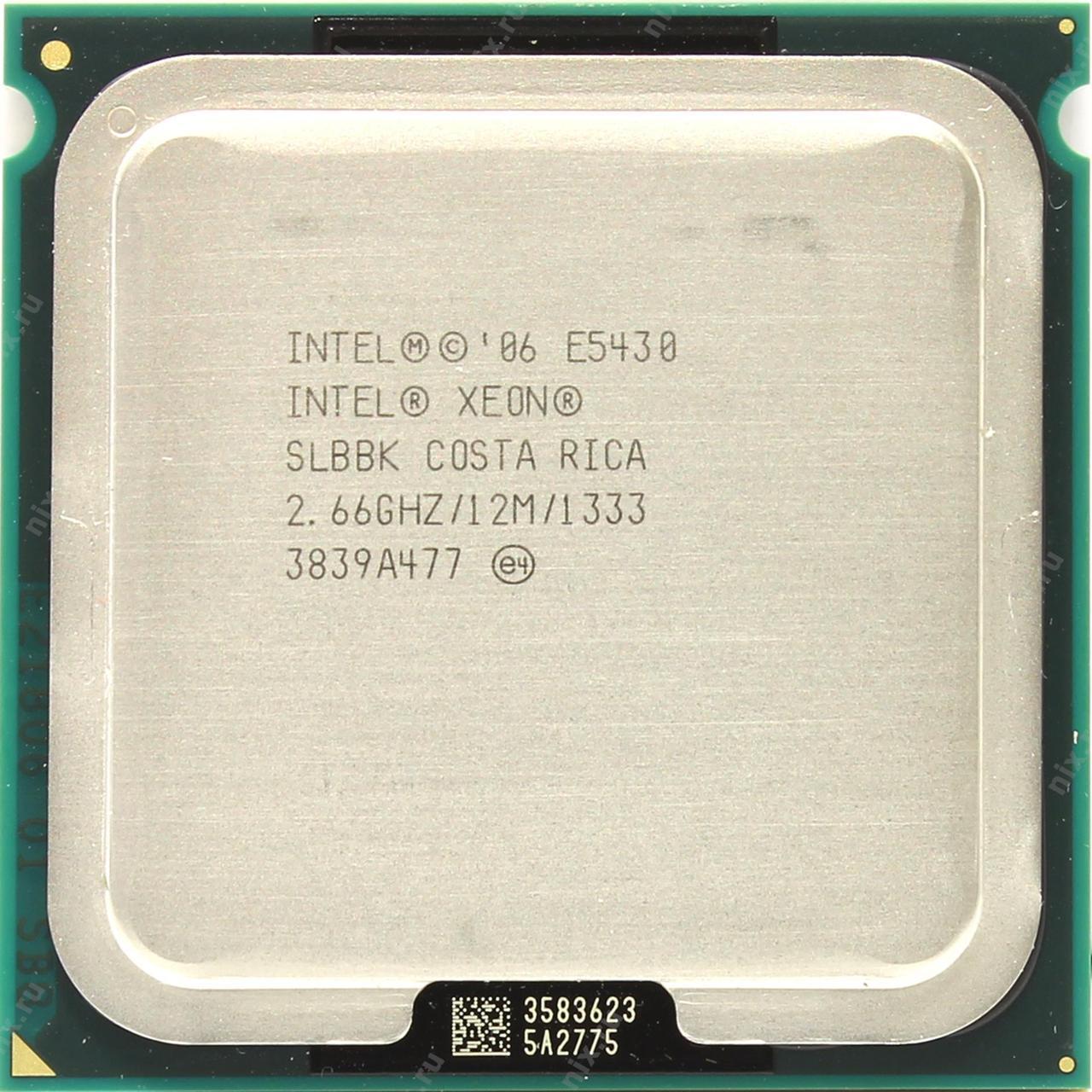 Процессор 4X Intel XEON E5430 4x2.66GHz + адаптер LGA775