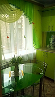 Кухонный ламбрекен салатовый