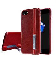 Кожаная накладка Nillkin Phenom Series с подставкой для Apple iPhone 7/8 Red