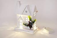 Декоративный домик с подсветкой (10 LED-ламп) 24 см