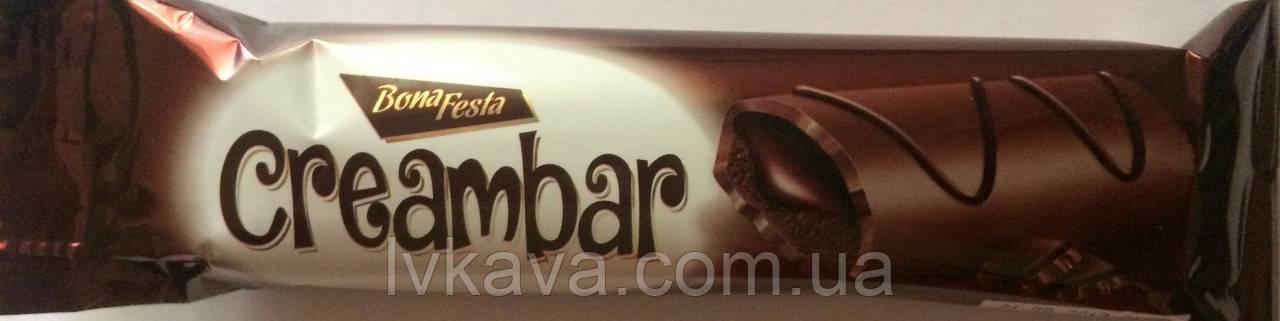 Бисквит Simsek Bona Festa Creambar  с шоколадным кремом , 25 гр