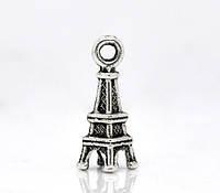 "Подвеска 3D "" Эйфелева Башня "", "" Париж "", 18x6mm, Античное серебро"